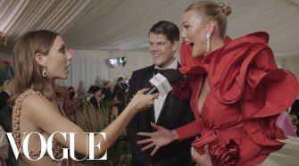 Karlie Kloss On Her Rose-Inspired Met Look   Met Gala 2021 With Emma Chamberlain   Vogue