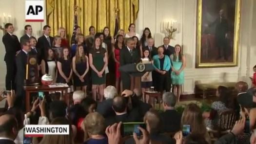 UConn women return to White House