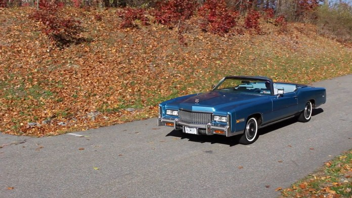 David Pugliese of Litchfield, CT has a well-polished 1976 Cadillac Eldorado convertible in a rare crystal blue firemist color.