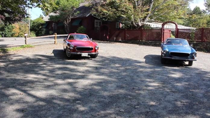 Chris Brennan of Washington, Conn. and Mark Greco of Torrington, Conn. own rare, two-seater, vintage Volvos. Brennan has a 1972 1800E while Greco owns a 1973 1800ES.