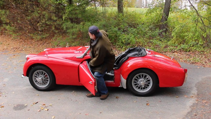 Andy Stowers of Goshen, Conn. received a 1963 Triumph TR3 in 1989 as a college graduation present - the same car that his mother had gotten in 1974 as a birthday present. He drove it until 1997. After a three-year restoration process, he got it back on the road in 2001 and has put 25,000 miles on it since then.