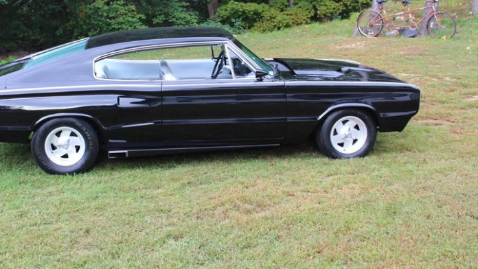 Steve Pesino of Waterbury, Conn. has a heavily-modified 1966 Dodge Charger, a fastback that was only built for the 1966 and 1967 models years. It has a stealthy black paint scheme with a 440-cubic-inch V8 under the hood.