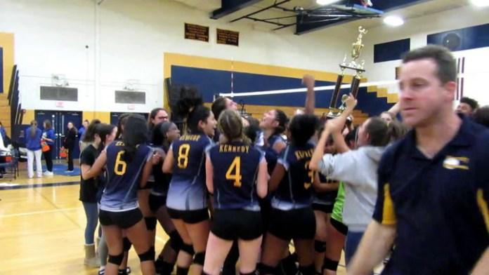 Kennedy High's Vivian Bunker after NVL volleyball final