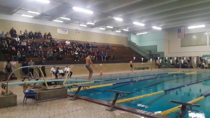 Holy Cross diver Marcas Racevicious