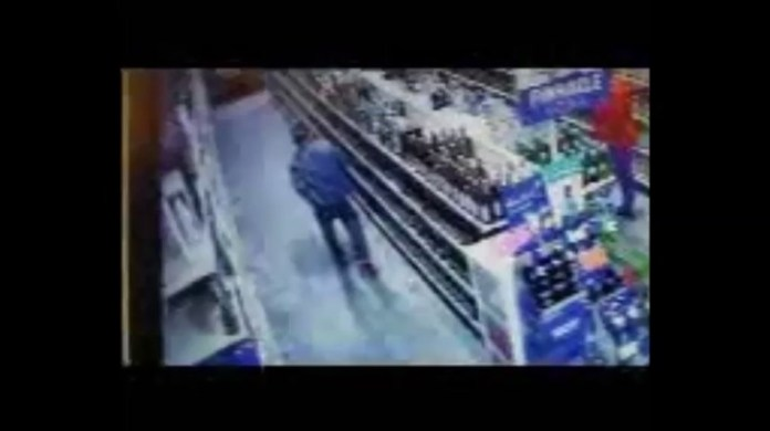 Footage of Liquor Store Robbery in Watertown