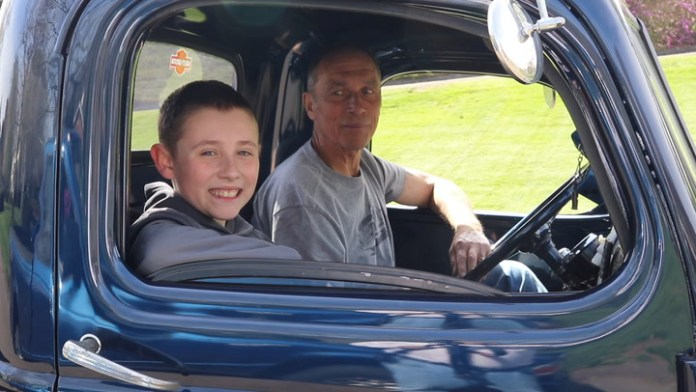"""Vintage car and truck collector Jim Shadish of Wallingford is passing on his passion for old vehicles to his 10-year-old grandson, Brodie Dugas of Southbury. Meet them on Saturday in """"My Ride"""" in the Wheels section."""