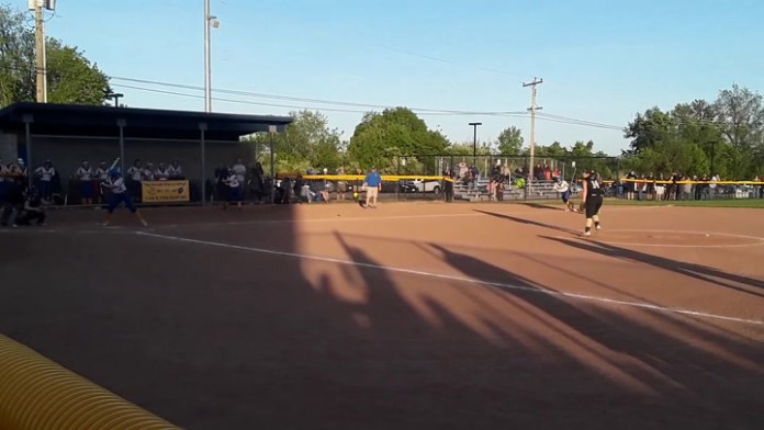 NVL softball: Seymour advances on this hit