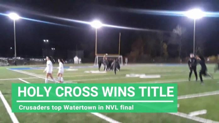 Holy Cross girls win NVL soccer title