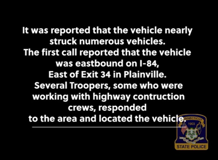 State police released this video of the pursuit of a Naugatuck man, 36-year-old Daniel Rapuano, on Interstate 84.