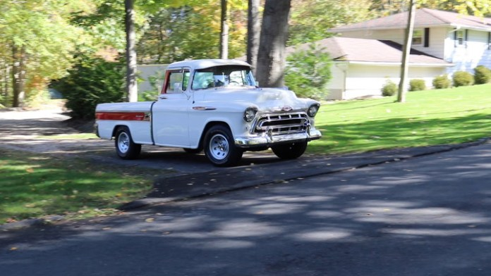It's one of roughly 10,000 that were built between 1955 and 1958 - a 1957 Chevrolet Cameo Carrier pickup owned by Jack Geary of Prospect, Conn. With a two-tone exterior and interior, the Cameo was a deluxe model in an era when pickups were basic workhorses. Geary shares it in My Ride.