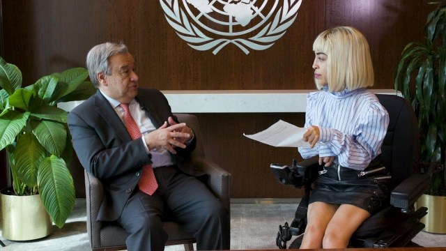 Model and Disability Rights Activist Visits the UN