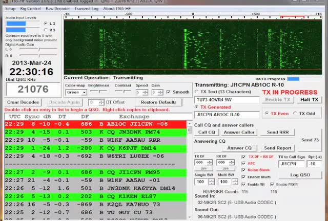 JT65HF QSO With JN3DNK