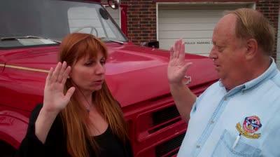 the swearing in of kearney's newest volunteer firefighter