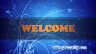Blue Flourish Welcome Background