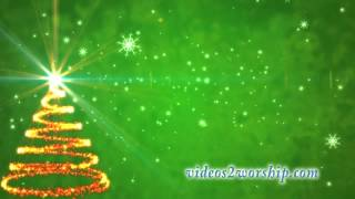 Green Background: Christmas Advent