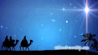 Wise Men On Camels: Nativity Background