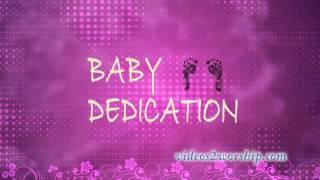 Baby Girl Dedication Background