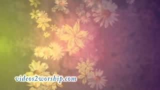 Rolling Flowers Worship Background