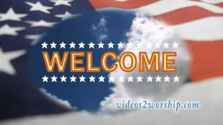 Patriotic Welcome Loopable Video