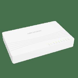 Interruttore da tavolo Hikvision - 8 porte RJ45 - Velocità 10/100 Mbps - Plug & Play - Basso consumo