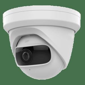 Telecamera IP Turret grandangolare - 4 Mpx (2688 × 1520) - Ultra Low Light - Lente grandangolare 180º - IR LEDs portata 10 m - Slot per scheda MicroSD