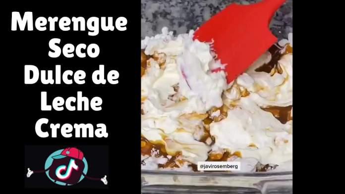 Merengue Seco, Dulce de Leche y Crema. Postre de Javi Rosemberg
