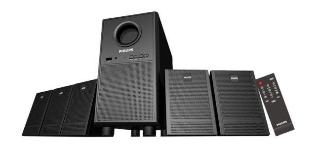 Philips Heartbeat SPA-3000U-94 5.1 Channel Multimedia Speaker System (Black)