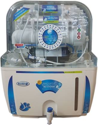Ruby Water Purifier RO+UV+UF+TDS Controller 12 Stage White & Blue