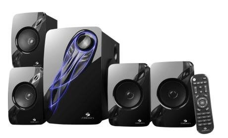 Zebronics Multimedia Speaker 4.1 with Bluetooth, Remote, SD Card, and FM