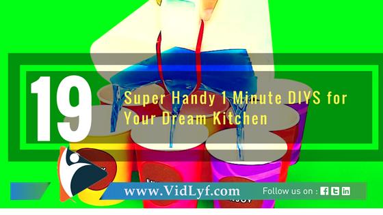 19 Super Handy 1 Minute DIYS for Your Dream Kitchen