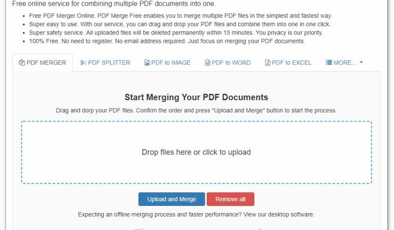 A New Online Web App to Merge PDF Document for Free