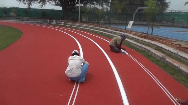 Running track flooring,Acrylic flooring ,Rubber flooring