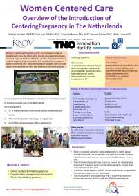 poster: Women centered care: Overview of the introduction of CenteringPregnancy in The Netherlands