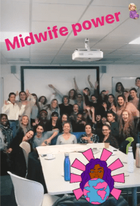 Georgetown and Oxford Brookes midwifery students