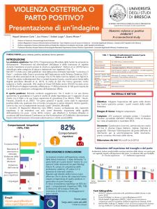 Poster: Violenza ostretica o parto positivo? Presentazione di un'indagine (Italian)