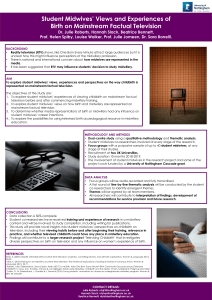 Poster: Student midwives' views and experiences of birth on mainstream factual television