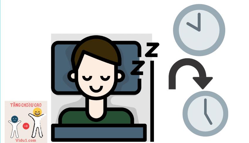 Ngủ giúp tăng chiều cao hiệu quả