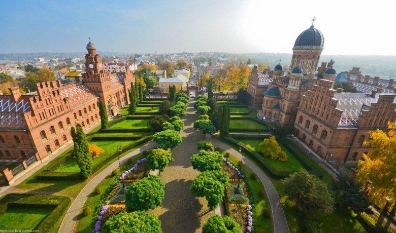 Unique garden of Chernivtsi University