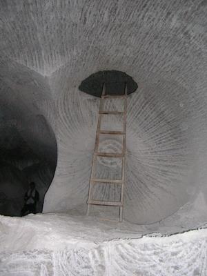 В соляной шахте