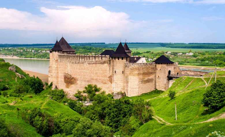 Khotyn Fortress on the Right Bank of the Dniester.