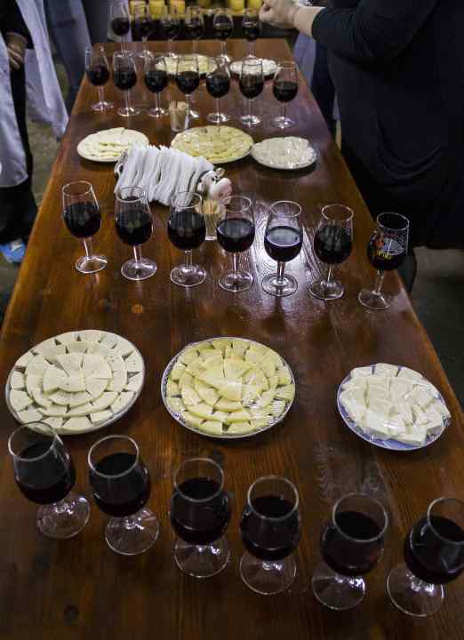 """Delicious tasting at """"The Selyshche cheese factory"""" (photo by O. Khmelnytsky)"""