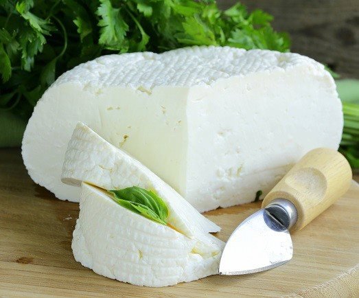 Cheese from Lepta cheese factory