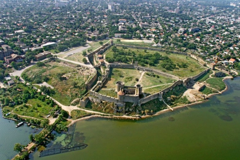 Bilhorod-Dnistrovskyi Fortress from above