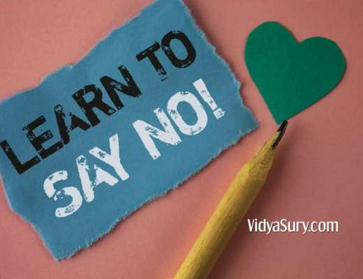 Learn to say no