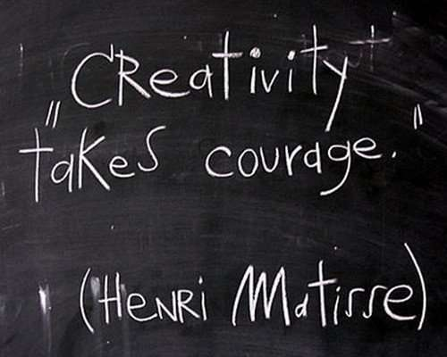creativity takes courage