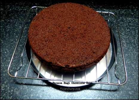 Banana Ragi Chocolate Cake Vidya Sury