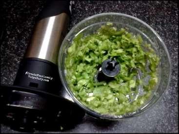 chopped capsicum