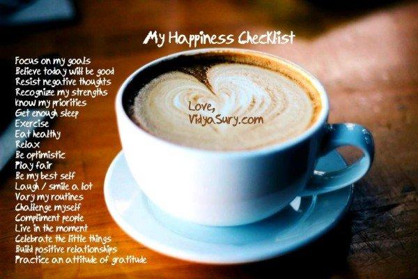 my happiness checklist vidya sury