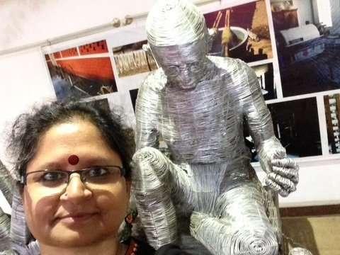 With Gandhiji