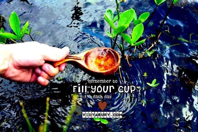 Make the commitment to fill your cup each day. Vidya Sury